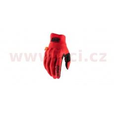 rukavice COGNITO, 100% (červená/černá)
