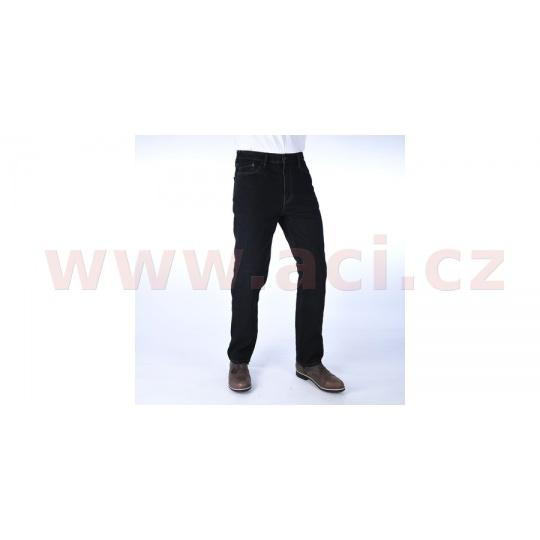 ZKRÁCENÉ kalhoty Original Approved Jeans volný střih, OXFORD, pánské (černá)
