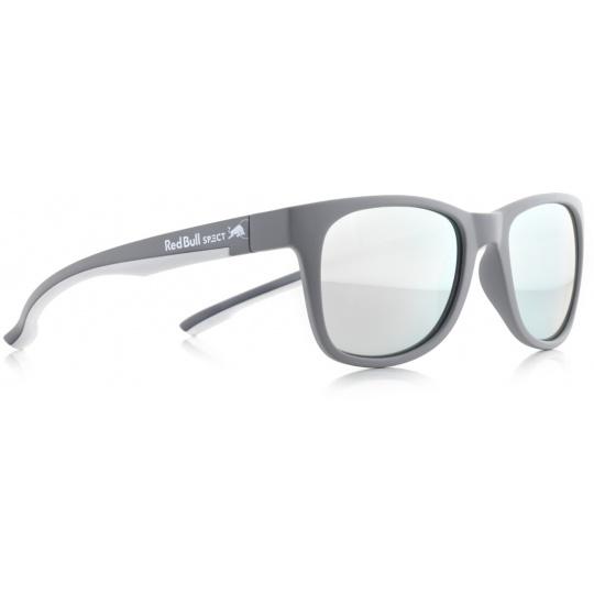 sluneční brýle RED BULL SPECT Sun glasses, INDY-010P, grey, white, smoke with strong silver mirror POL, 51-20-145