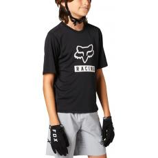 Dětský dres Fox Yth Ranger Ss Jersey Black
