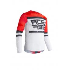 ACERBIS dres VENTED HELIOSčervená/bílá