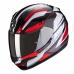 Moto přilba SCORPION EXO-390 BOOST černo/bílo/červená
