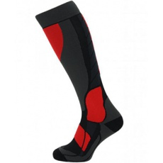 lyžařské ponožky BLIZZARD Compress 120 ski socks, black/grey/red