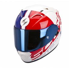 Moto přilba SCORPION EXO-1200 AIR QUARTERBACK pearl bílo/červeno/modrá