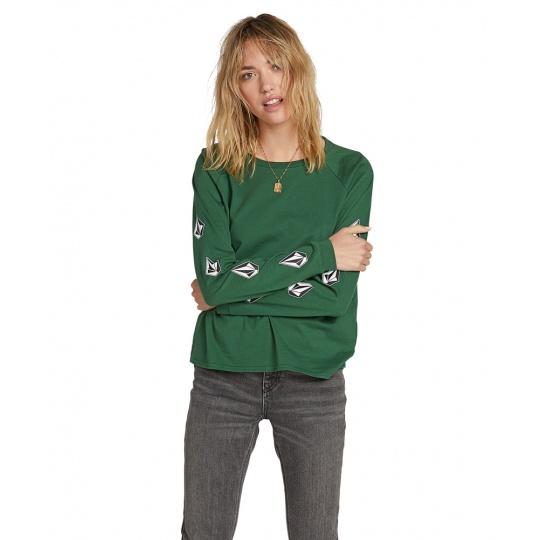 Dámské triko Volcom Deadly tones Ls Green