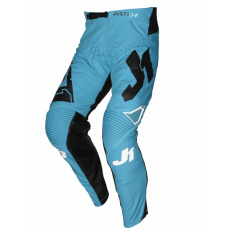 Dětské moto kalhoty JUST1 J-FLEX ARIA modro/černo/bílé