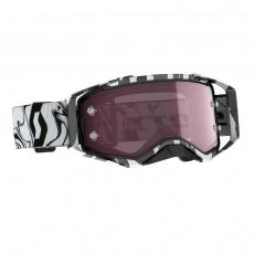 Brýle Scott PROSPECT černá/bílá, červen sklo