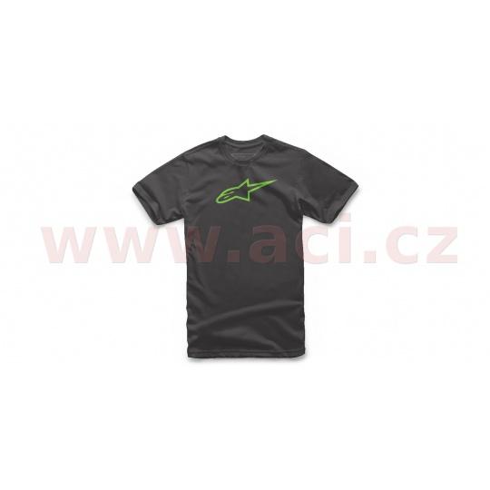 triko KIDS AGELESS TEE krátký rukáv, ALPINESTARS, dětské (černá/zelená)