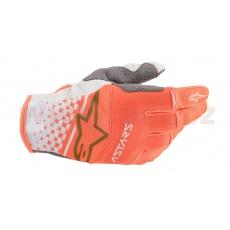 rukavice TECHSTAR 2020, ALPINESTARS (bílá/oranžová fluo/zlatá)