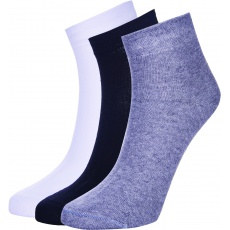 ponožky AUTHORITY Mid Socks 3pck, black, white, grey