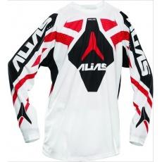 Motokrosový dres ALIAS MX A1 bílo/červený 2120-333