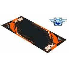 Koberec pod moto 100x160cm Hurly KTM SX 2T černo/oranžový