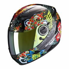 Moto přilba SCORPION EXO-490 DIVINA černo/červeno/modrý chameleon