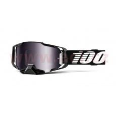 brýle ARMEGA Black, 100% (stříbrné chrom plexi s čepy pro slídy)