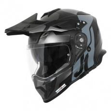 Moto přilba JUST1 J34 PRO TOUR matná titanovo/černá