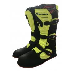 Moto boty FORMA BOULDER černo/neonově žluté