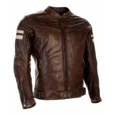 Moto bunda RICHA HAWKER hnědá kožená - nadměrná velikost