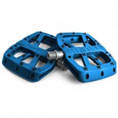 Base Flat Pedal | Composite Body | 22 Pins | Blue