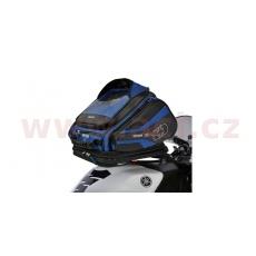 tankbag na motocykl Q30R QR, OXFORD (černý/modrý, s rychloupínacím systémem na víčka nádrže, objem 30 l)