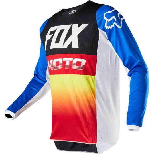 Pánský MX dres Fox 180 Fyce Jersey Blue/Red