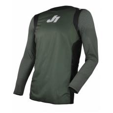 Dres JUST1 J-FLEX MTB/LS HYPE army zeleno/černo/bílý