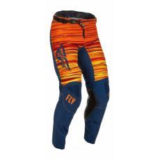 kalhoty KINETIC WAWE, FLY RACING - USA 2022 (modrá/oranžová)