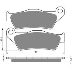 brzdové desky Mino jako GF 031