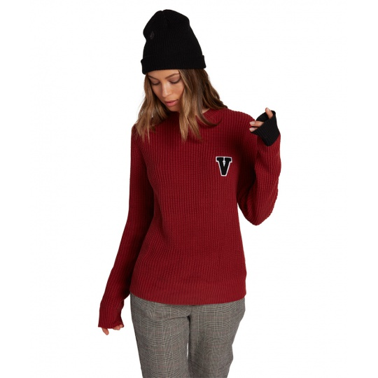 Dámský svetr Volcom natchy weater Auburn