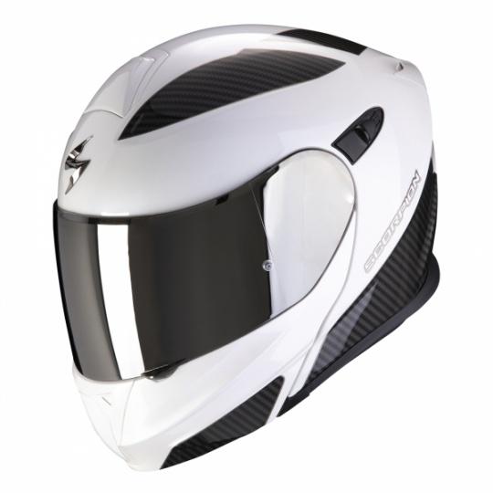 Moto přilba SCORPION EXO-920 FLUX bílo/stříbrná
