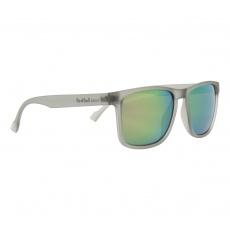 sluneční brýle RED BULL SPECT Sun glasses, LEAP-002P, matt transparent light grey rubber, smoke with olive purple mirror POL, CAT3, 55-17-145