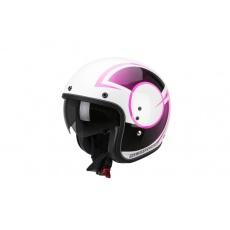 Moto přilba SCORPION BELFAST CITURBAN pearl bílo/růžová