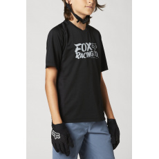 Dětský dres Fox Yth Defend Ss Jersey Black