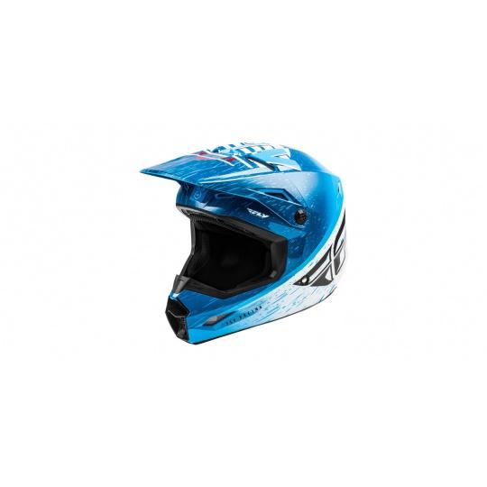 přilba KINETIC K120, FLY RACING - USA (modrá/bílá/červená)