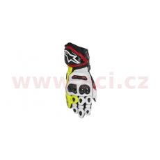 rukavice GP TECH 2021, ALPINESTARS (černé/červené/bílé/žluté fluo)