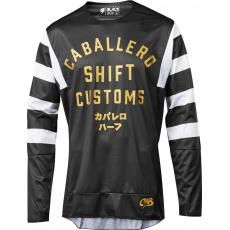 Pánský MX dres SHIFT 3Lack Caballero X Lab Jersey Black