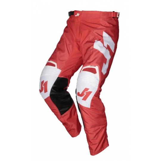 Moto kalhoty JUST1 J-FORCE TERRA červeno/bílé