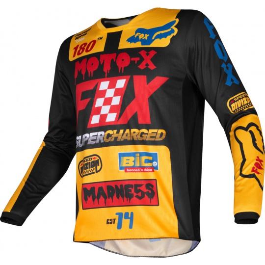 Pánský X dres Fox 180 Czar Jersey Black/Yellow
