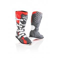 ACERBIS boty X-RACEčervená/šedá