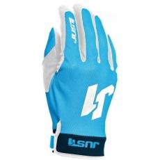 Moto rukavice JUST1 J-FLEX modro/bílé
