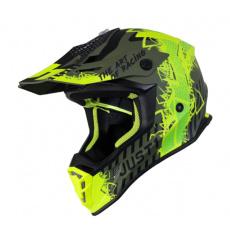 Moto přilba JUST1 J38 MASK matná neonově žluto/černo/zelená