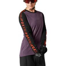 Dámský dres Fox W Ranger Dr Ls Jersey Black/Purple