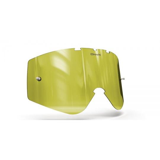 plexi pro brýle O'NEAL B-ZERO, ONYX LENSES (Hi-Vis žluté s polarizací)