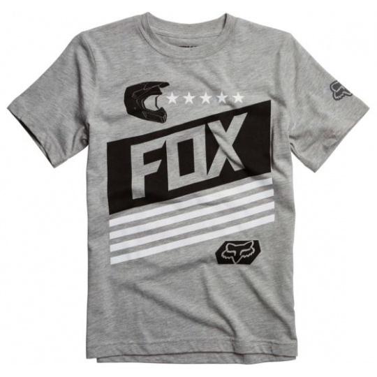 Dětské triko Fox Racing Youth Ozwego Ss Tee Heather Grey