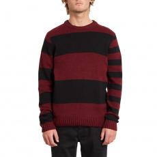 Pánský svetr Volcom Edmonder Striped Sweater Port