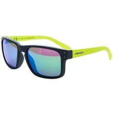 sluneční brýle BLIZZARD sun glasses POLSC606051, rubber dark green + gun decor points, 65-17-135