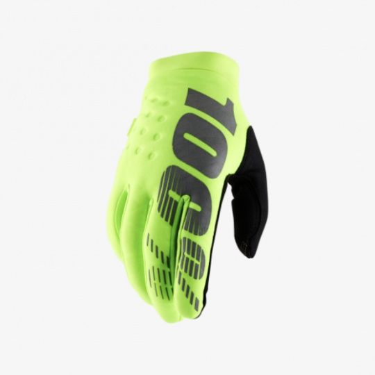 "100% zateplené rukavice ""BRISKER"" Fluo Yellow"