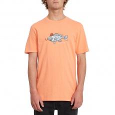 Pánské triko Volcom Trout There tw Ss Salmon