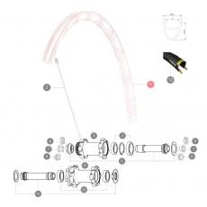 MAVIC KIT FRONT RIM KSYRIUM ELITE DISC (LV2405900)