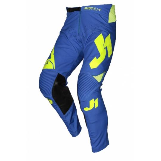 Moto kalhoty JUST1 J-FLEX ARIA modro/neonově žluté