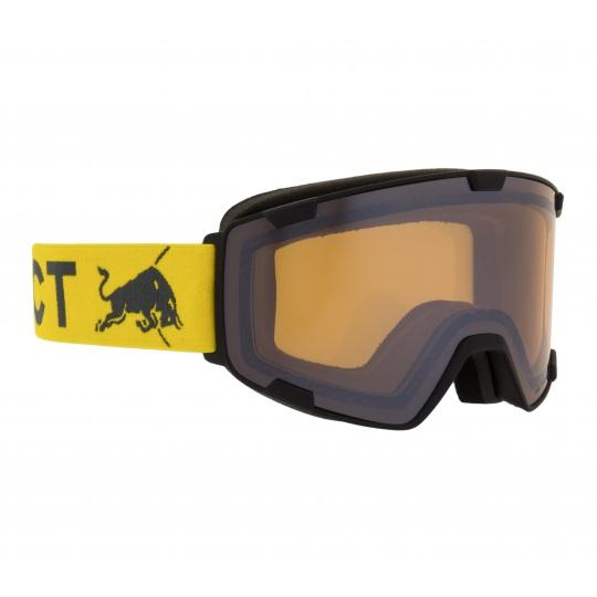 lyžařské brýle RED BULL SPECT Goggles, PARK-006, matt black frame/yellow headband, lens: cloudy snow CAT1